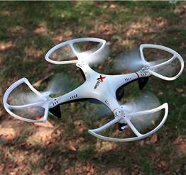 """Smart-Planet® hochwertige Drohne / Quadrocopter mit Live Kamera HD R806CF und """" Coming Home Funktion """" --- inkl. 2,4 GHz / 2.4 GHz Funkfernbedienung - Komplettpaket - inkl. 2x Akku - mit Live HD Cam / Kamera - 6 Achsen Gyro - 4 Kanal - Looping auf Knopfdruck etc. - 1"""